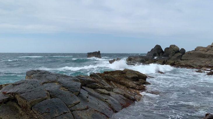 五島列島最北端 宇久島の荒波と強風。舞い上がる塩吹雪 津波を連想される方は視聴をお控えください